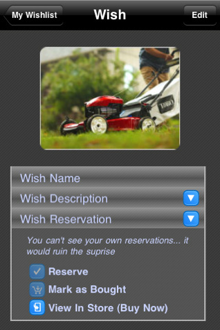 Wish List iPhone App